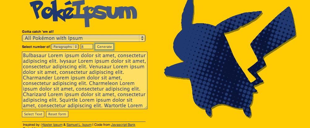 11 funny and unique lorem ipsum generators. Black Bedroom Furniture Sets. Home Design Ideas
