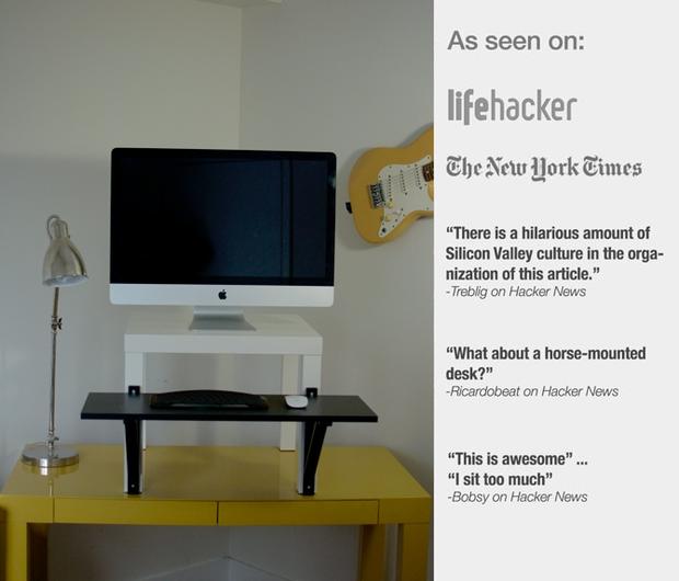 IKEA Hack: the $22 DIY standing desk