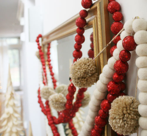 Do it yourself holiday decorations for freelancers on a budget there are a bunch of ways to make creative garlands without breaking the bank try making your own pom poms like the garland pictured above solutioingenieria Gallery