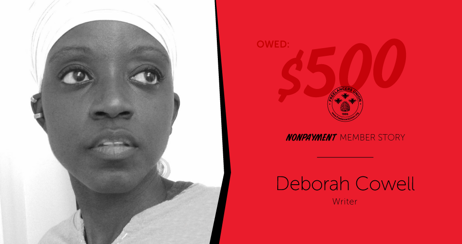 This freelancer shared her nonpayment story with the City of New York